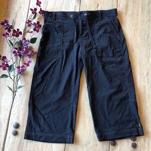 EUC LUCY Black Wide Leg Cropped Pants - Large